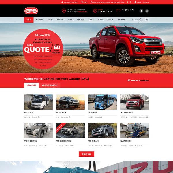 CFG Isuzu Authorized Dealer - Website Designers Asher Group Ltd