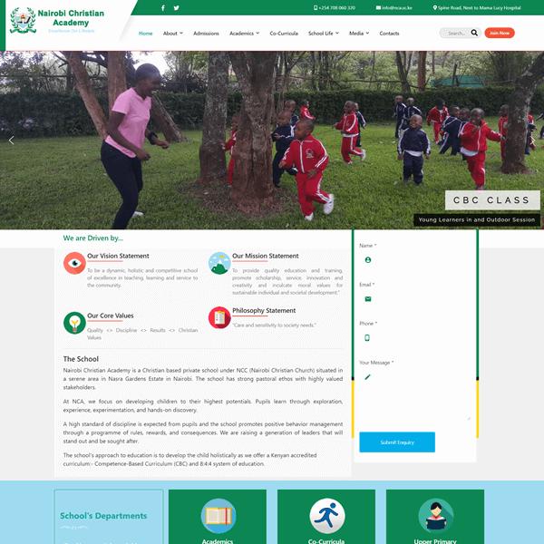 Nairobi Christian Academy, Asher Group Ltd Designers, Christian Schools in Nairobi