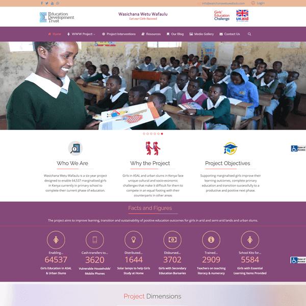 Wasichana Wetu Wafaulu - Asher Group Ltd NGO Website Design in Kenya